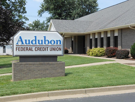 Audubon FCU office building and sign